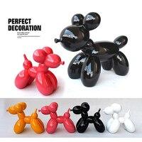 HOT Fashion Ballon Dog Ceramic Resin Crafts Sculpture Statues For Home Decoration Creative Gifts Modern Balloon Dog Statue