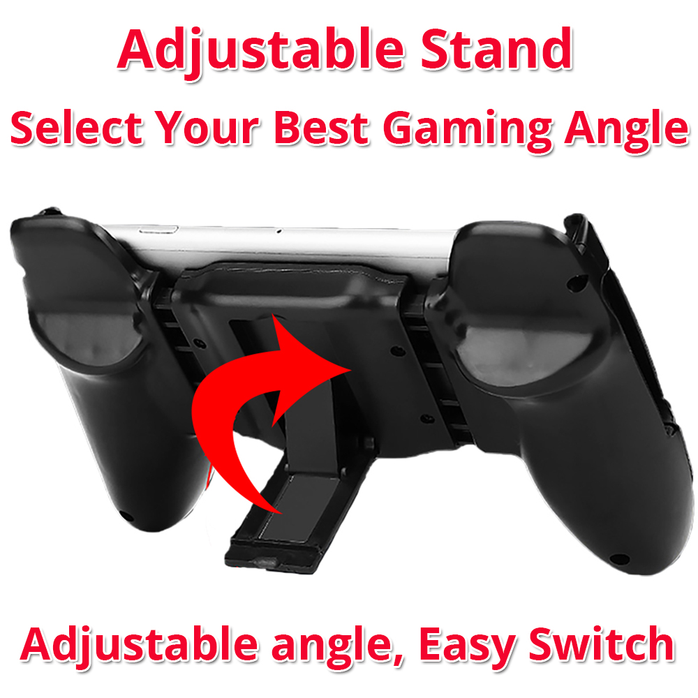 game controller phone grip with adjustable stand