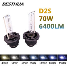 2Pcs D2S 35W 12V 6400LM HID Xenon Bulb Headlight 4300K 5000K 6000K 8000K 10000K Car Headlight Original Single Beam Auto Lamp J10