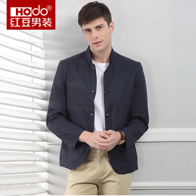 Hodo Men Jackets Spring 2018 New Business Casual Simple Solid Grey Blue Jacket Suit Hombres Outerwear