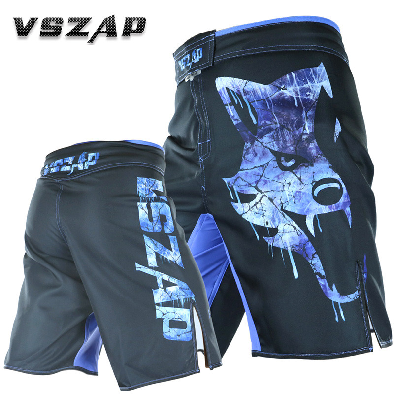 Summer New VSZAP GIANT Fitness Casual Shorts MMA Fight Muay Thai UFC Shorts Mens Bodybuilding Men Shorts With Pockets Polyester