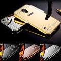 Для Samsung Galaxy S5 S6 S7 SAMSUNG S4 S3 Случае G900 S6edge S7edge НОВЫЙ Роскошный Алюминиевая Рама + Зеркало Акриловые Телефон Случаях крышка