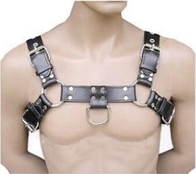 Men s Sexy Bondage Leather Belt Chest Harness Gay Buckles Fetish Clubwear Sex Toys For Women
