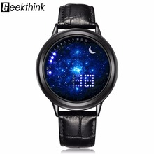 GEEKTHINK Top Luxury brand Digital Touch Screen Led Watch Men Casual Women Fashion Unisex Wristwatch Male Clock Creative gift