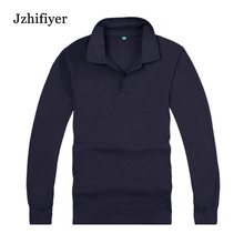 Free Shipping Factory Price Size M,L XL ,XXL,XXXL Blank Long Sleeve Cotton Polo Shirt