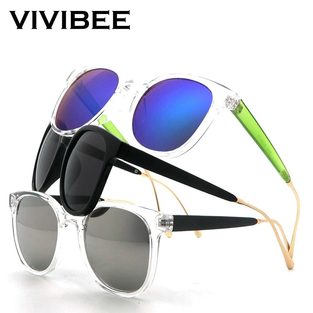 VIVIBEE Transparent Square Sunglasses Women Brand Designer New Fashion 2019 Trend Vintage Oval Style Glasses Men Shades