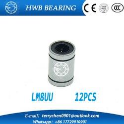 12 pcs lot lm8uu 8mm linear ball bearing linear bearing 8mm 3d printer parts lm8 cnc.jpg 250x250
