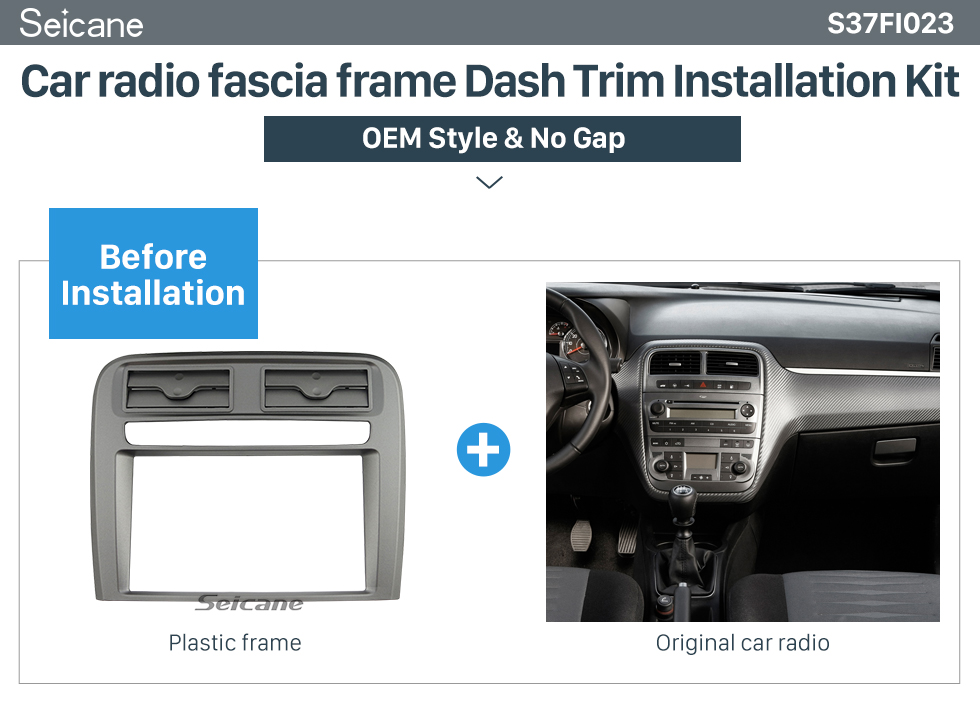 Ongebruikt Seicane 2 DIN Car radio fascia Bezel Trim Kit Cover for 2005 2009 ZY-92