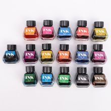 30ml Bottled Glass Smooth Writing Fountain Pen Ink Refill School Student Stationery Office Supplies 16 Colors 50ml bottled glass black smooth writing fountain pen ink school student stationery office supplies