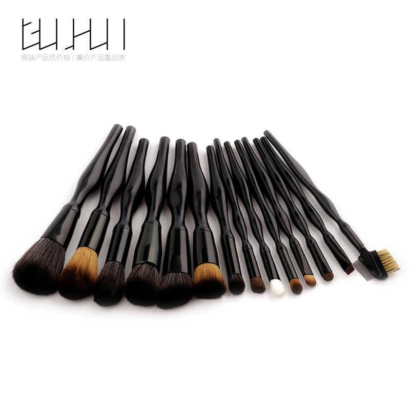 14 Make-up Brush Sets, Beauty Tools, Human Body Curves, Loose Powder Brush, Foundation Brush, GUJHUI тушь make up factory make up factory ma120lwhdr04