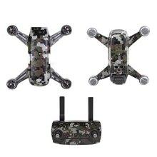 Углеродные графические стикеры камуфляжные наклейки Дрон корпус батарея кожа водонепроницаемый ПВХ для дрона DJJ Spark
