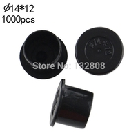 14MM Tattoo Inkcups Caps 1000pcs Plastic Tattoo Pigment Ink Cup Self Standing Large Size Black Cup