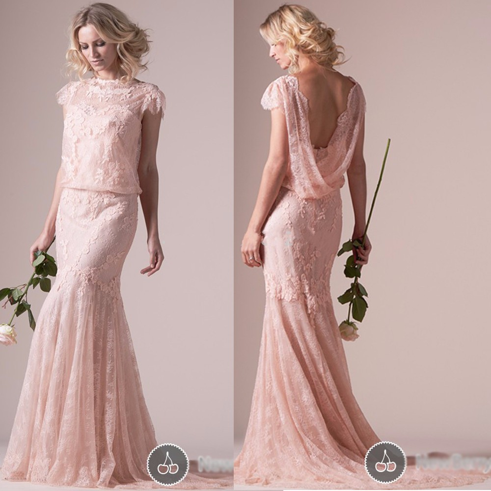 Lace-Pink-Mother-of-the-bride-dresses-Long-Cap-Sleeve-Evening-Dresses-2016-High-Quality-Vestidos