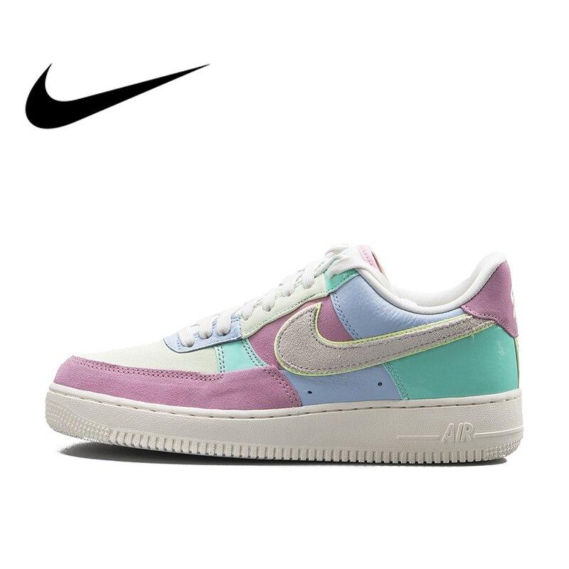 0a1ec3cc Оригинальный Nike Оригинальные кроссовки Air Force 1 один низкой AF1 Для  Мужчин's Скейтбординг Уличная обувь для мужчин кроссовки легкая обувь AH8462