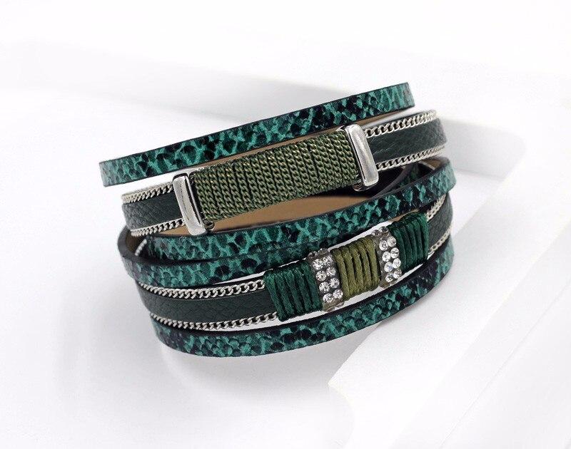 VONNOR Bracelet for Women Men Multilayer Leather Bangle Bracelets Female Jewelry Magnetic Wrap Bracelet Dropshipping 3