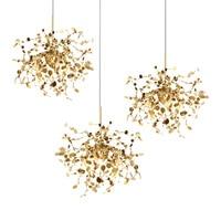 Postmodern Individual G9 Leaf Pendant Light Industrial lamp Metal hanging lights LOFT suspension luminaire