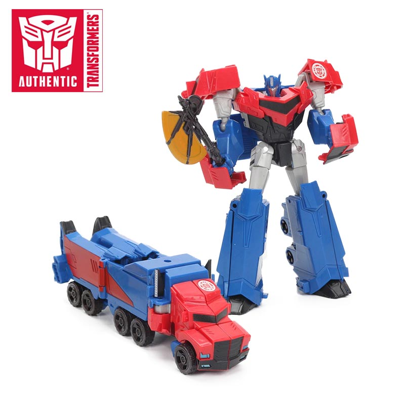 4.7inch Transformers Toys Robots in Disguise Warrior Class Optimus Prime PVC Action Figures Collection Model Doll Toy brinqudoes цена 2017