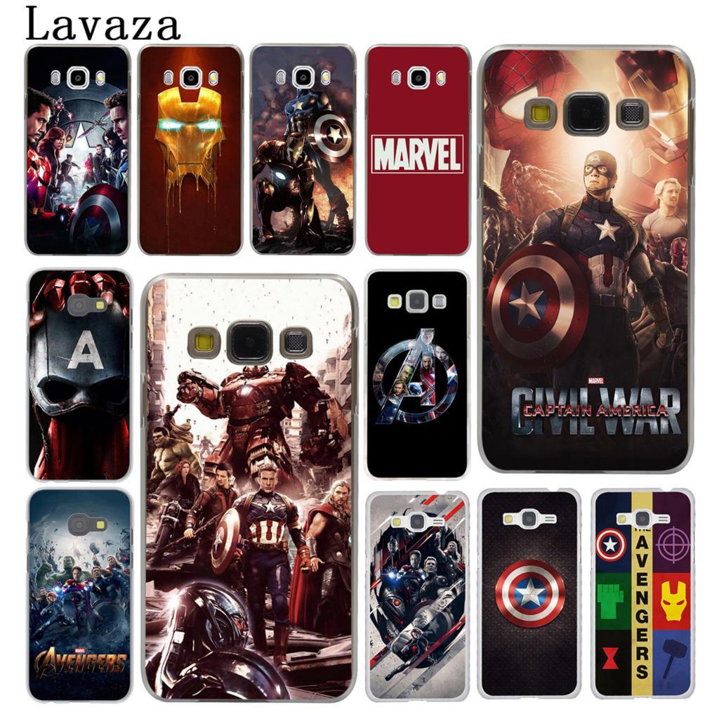 Lavaza Marve Marvels The Avengers Hard Phone Case for Samsung Galaxy J7 J1 J2 J3 J5 2015 2016 2017 Prime Pro Ace 2018 Cover