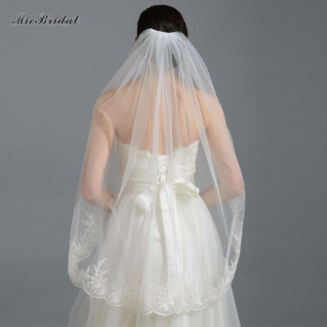 51e1990f56 Dm-13 encaje 2015 velo Charm generoso novia dama de honor accesorios velo  blanco marfil