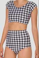 EAST KNITTING X-246 Houndstooth Nana Suit Bottom High Waist women Summer short Pants S M L XL PLUS SIZE