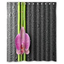 """Orquídea mariposa rocío personalizada Cortina de Ducha Cuarto de Baño decoración de diseño de moda Envío Gratis 36×72 """"48×72"""" 60×72 """"66×72"""""""