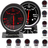Df BF 60mm Boost Gauge Turbo Gauge with Red & White Light For Ford Mustang Audi TT S3 A3 03-06 Seat Leon EP-BF60001-BOOST