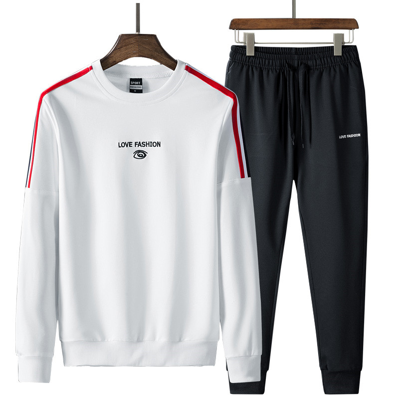 2019 New Fashion Men'S Sportswear Suits Spring Autumn Sets Sweatshirt +Ankle Length Pants Young Male Tracksuit Clothing