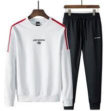 Tenue de sport pour homme, ensemble de sweat shirt + pantalon à longueur cheville, vêtements de sport pour jeunes hommes, collection printemps automne, 2019