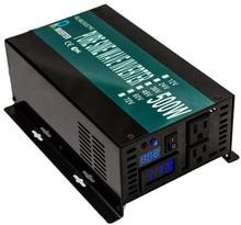 1000W Peak 500W Pure Sine Wave Solar Power Inverter 12V 24V 48V 110V DC to 110V