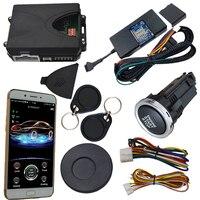 cardot 2g gsm&gps rfid car alarm push engine start stop button remote start stop working with original car key remote