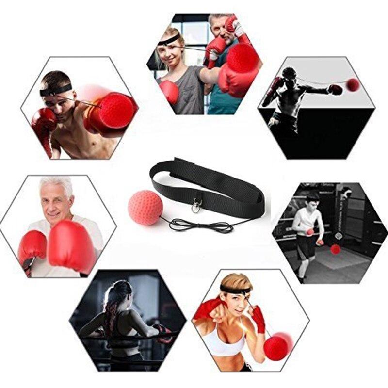 Boxe luta reflex bola bandana soco bolas de perfuração artes marciais fitness ginásio exercício equipamentos de treinamento melhorar a reação 6