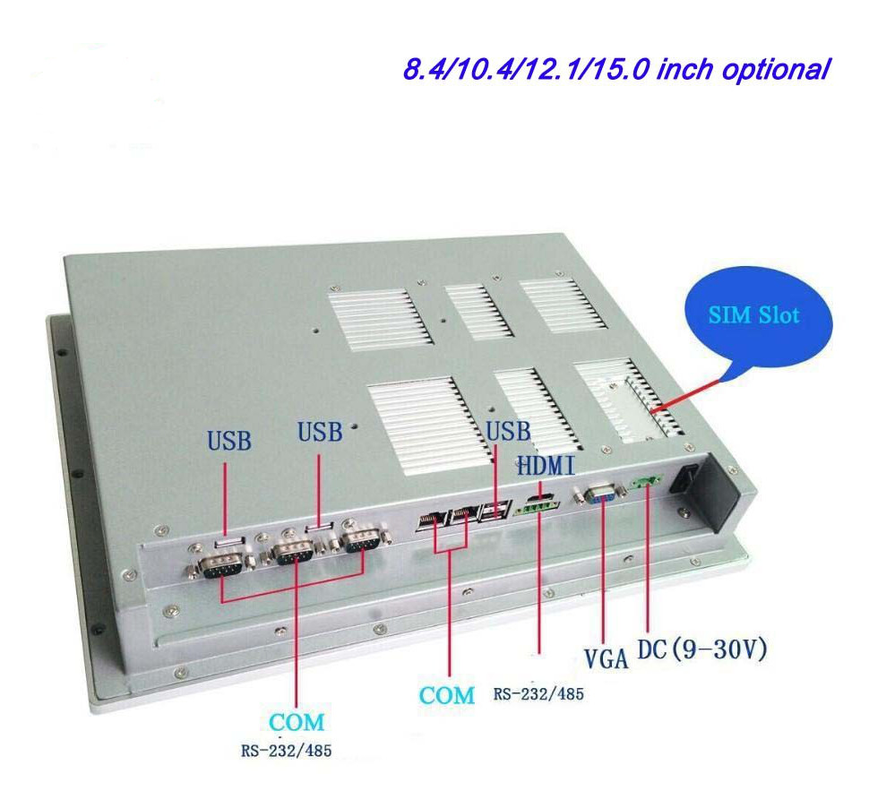Cheap Price 12.1 Inch Embeded Ip65 Mount Fanless Touch Screen Industrial Panel Pc Computer