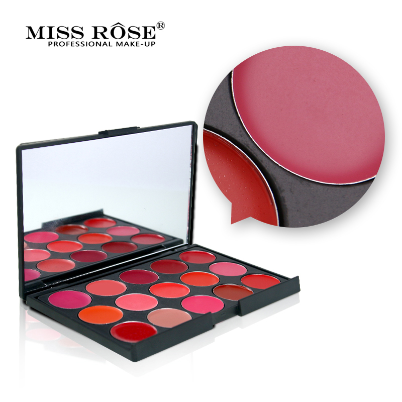 <font><b>MISS</b></font> <font><b>ROSE</b></font> 15 Colors Natural <font><b>Matte</b></font> <font><b>Lipstick</b></font> <font><b>Set</b></font> Palette Waterproof Long Lasting Maquiagem Make Up Lips Stick Makeup Cosmetics image