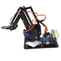 DIY Acrylic Robot Arm Robot Claw Kit 4DOF Toys Mechanical Grab Manipulator Tools