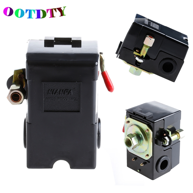 OOTDTY 1 Port Air Compressor Pressure Control Switch 95-125PSI On/off Lever AC 220V ac 380v 16a g3 8 135 175psi 1 port air compressor pressure switch control valve