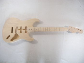1pcs Basswood high quality   Unfinished electric guitar neck with body 4#