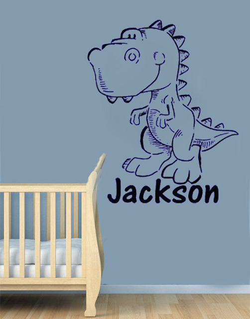 Aliexpresscom  Buy Big Personalized Dinosaur  Name Wall Decals - Custom vinyl wall decals dinosaur