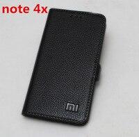 Genuine For Xiaomi Redmi Note 4x Leather Case Cover Luxury Book Flip Leather Case For Xiaomi