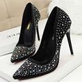 Women pumps 2017 Women Shoes High Heels Fashion Pointed Toe High Heels Sexy Rhinestone wedding shoes
