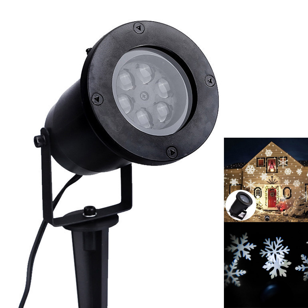Outdoor Waterproof Garden Tree Moving Snow Laser Projector Snowflake LED Stage Light Christmas Lights Brand New недорого