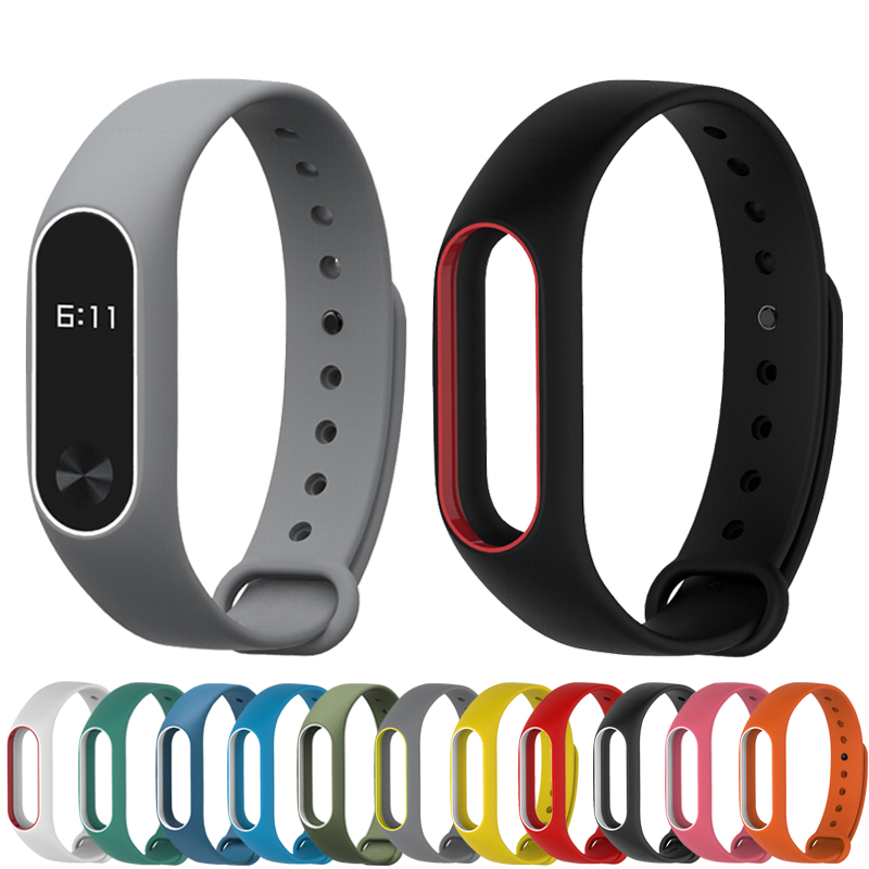 Colorful Silicone Wrist Strap Bracelet Double Color Replacement watchband for Original Miband 2 Xiaomi Mi band 2 Wristbands miband 2 silicone wrist strap bracelet double color replacement watchband for original xiaomi mi band 2 wristbands belt rubber