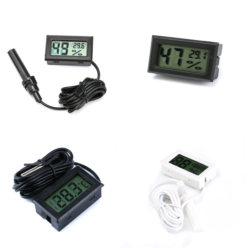 Mini LCD Digital Thermometer Hygrometer Probe For Incubator Fridge Freezer Thermograph Temperature Humidity Meter Detector