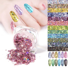 Glitter Sequins Manicure Rose Gold for Nail Decoration Best Sales Chunky Mixed Fairy Face Body Craft Decor