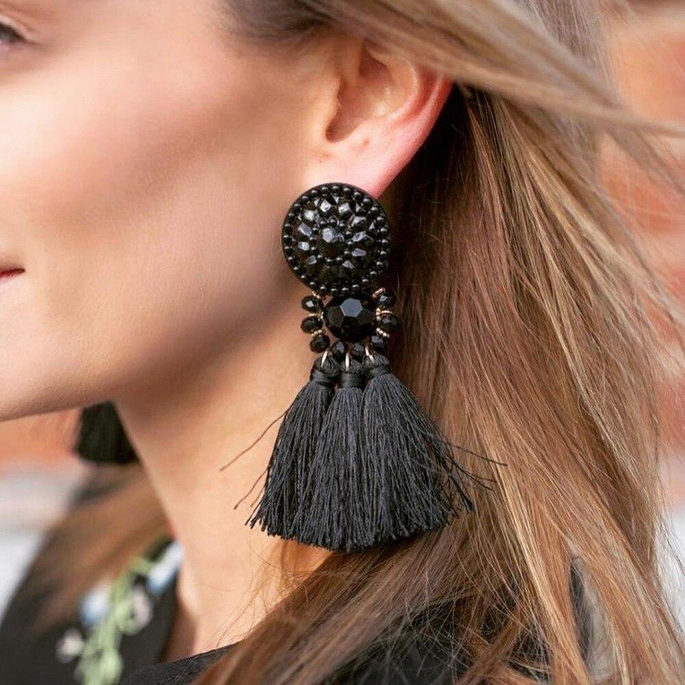 2017 Brincos Women Brand Boho Drop Dangle Fringe Earring Vintage ethnic Statement tassel earrings fashion jewelry