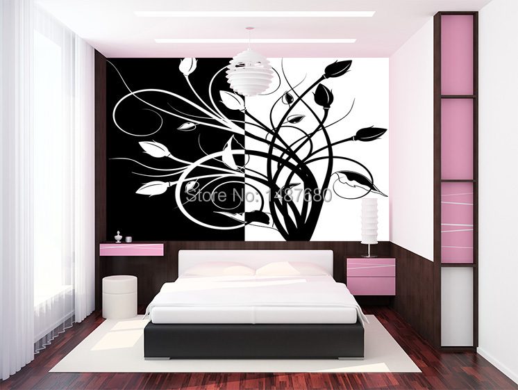Buy beibehang abstract black and white for Black and white room wallpaper