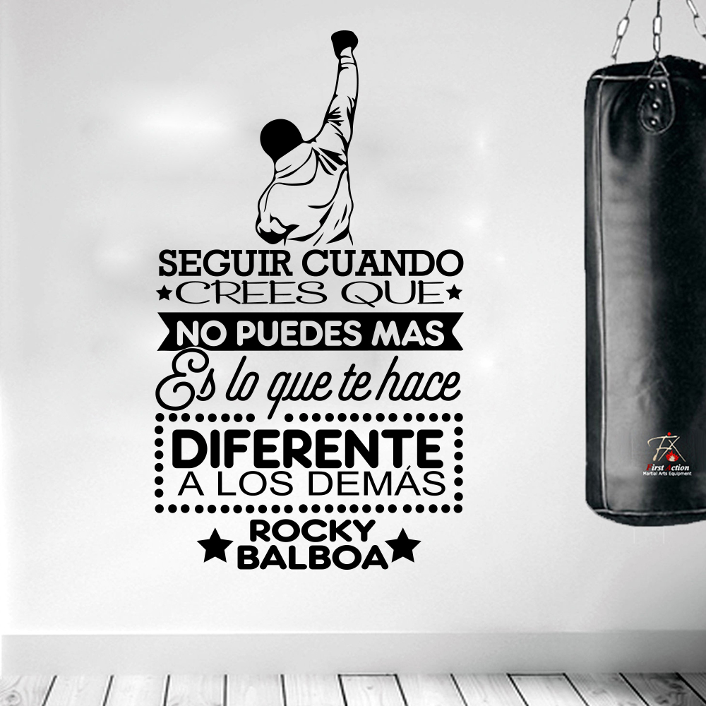 Rocky Balboa Seguir cuando Famous Boxing Spanish Quote Movie Wall Sticker Kids Room Sport Boxing Inspirational Quote Decal image