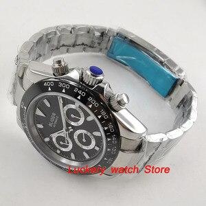 Image 5 - Reloj bliger de 39mm, esfera negra, multifunción, fecha de semana, movimiento automático, watch BA123 para hombres