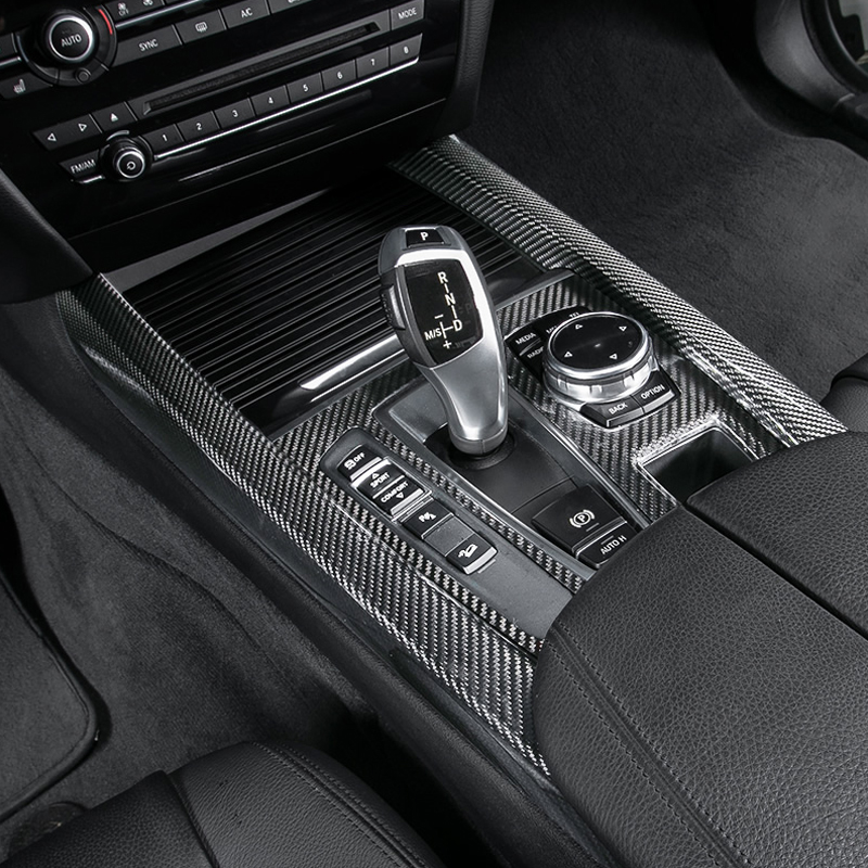 100 Carbon Fiber Interior Gear Shift Knob Panel Trim
