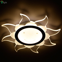 Modern Unique Acrylic Sunflower Smile Design Led Ceiling Light Stepless Dimmable By Remote Control Clear PMMA
