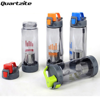 Sports Water Bottle 550ml 700ml Plastic Space Cup Young Bike Outdoor Climbing Camp Powder Shaker Bottle